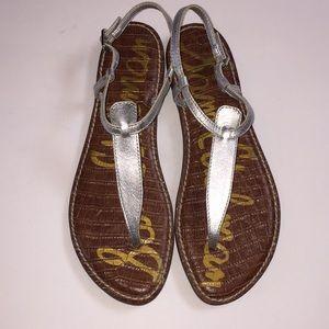 Sam Edelman Gigi Sandals Silver Ankle Strap